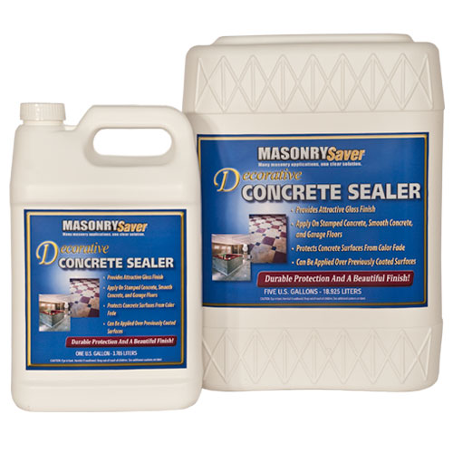 MasonrySaver Decorative Concrete Sealer 1 Gallon